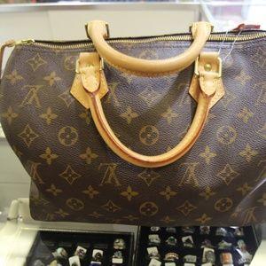 Louis Vuitton Monogram Speedy 25 Shoulder Bag COA